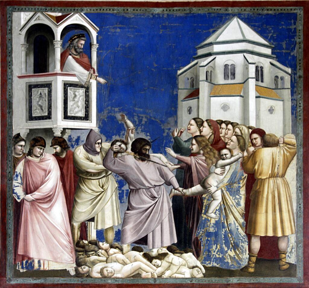 Cappella Scrovegni, Giotto: scena Sytrage degli Innocenti