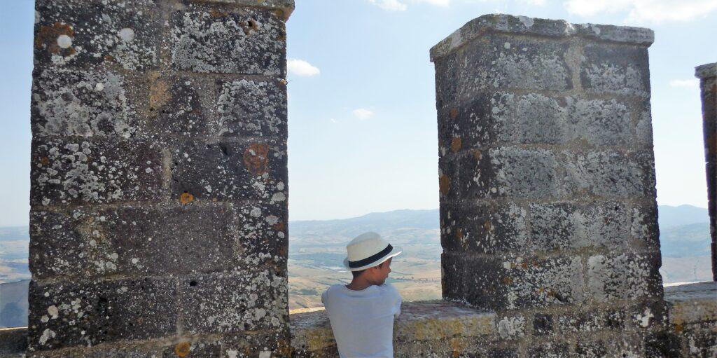 Radicofani, vista dall'ultimo piano della torre.