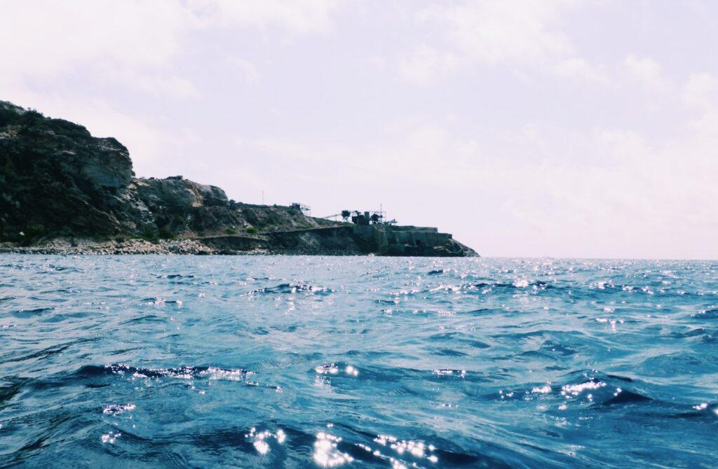Elba, Punta Calamita vista dalla canoa.