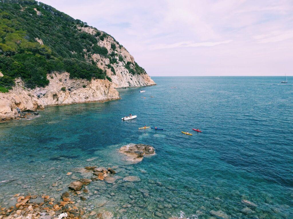 Elba, spiaggia dell'Enfola, lato nord.