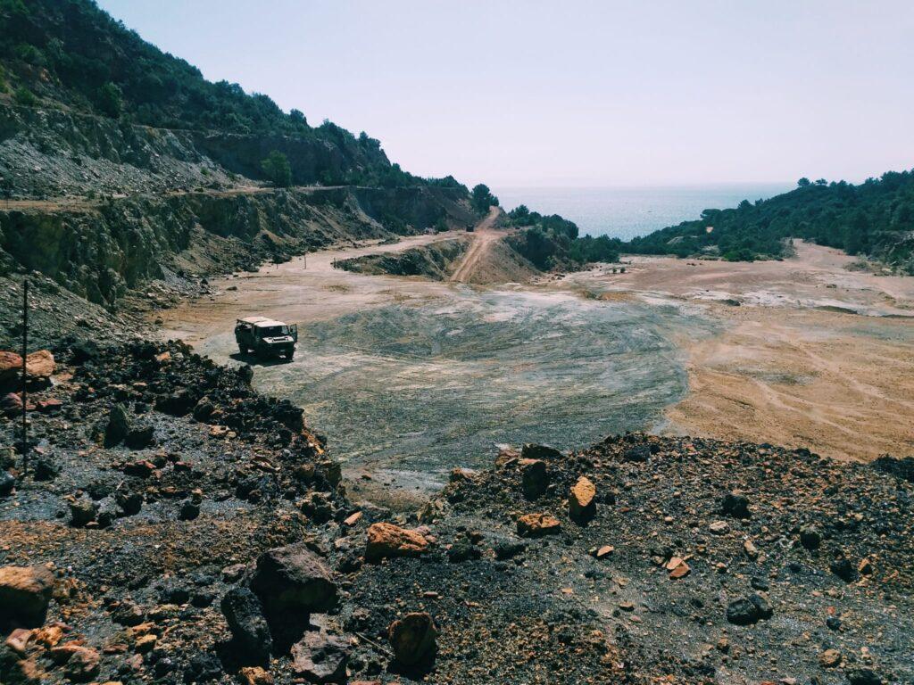 """Elba, Rio Marina, """"Miniera Adventure"""" presso il Parco Minerario, Valle Giove."""