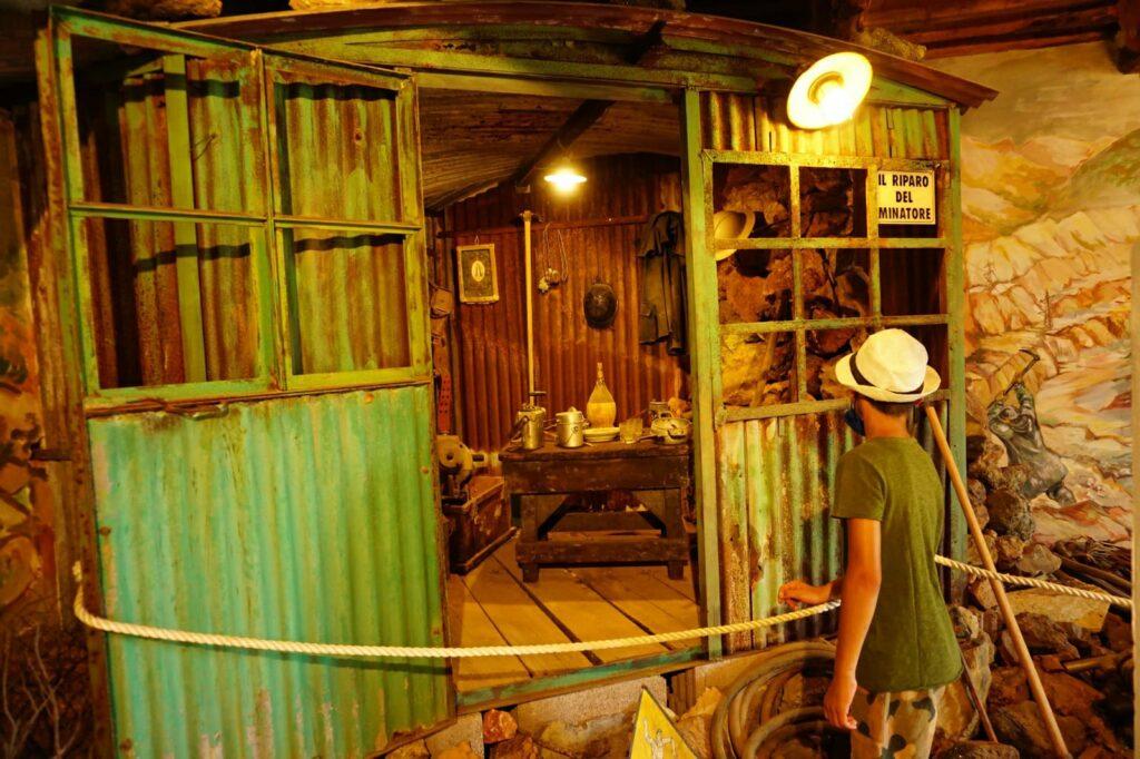 Elba, Museo Minerario di Rio Marina, il riparo del minatore.