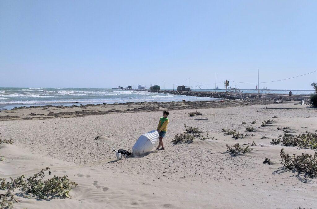 Lido di Venezia, spiaggia del Faro Alberoni.