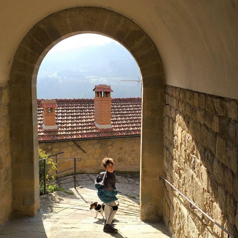 Toscana castello Porciano bambini